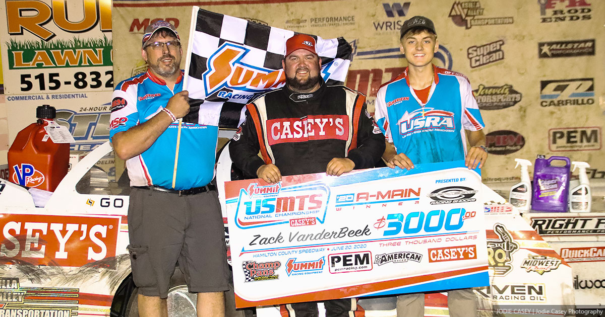 USMTS Iowa Speedweek ends with VanderBeek in Hamilton County Speedway victory lane