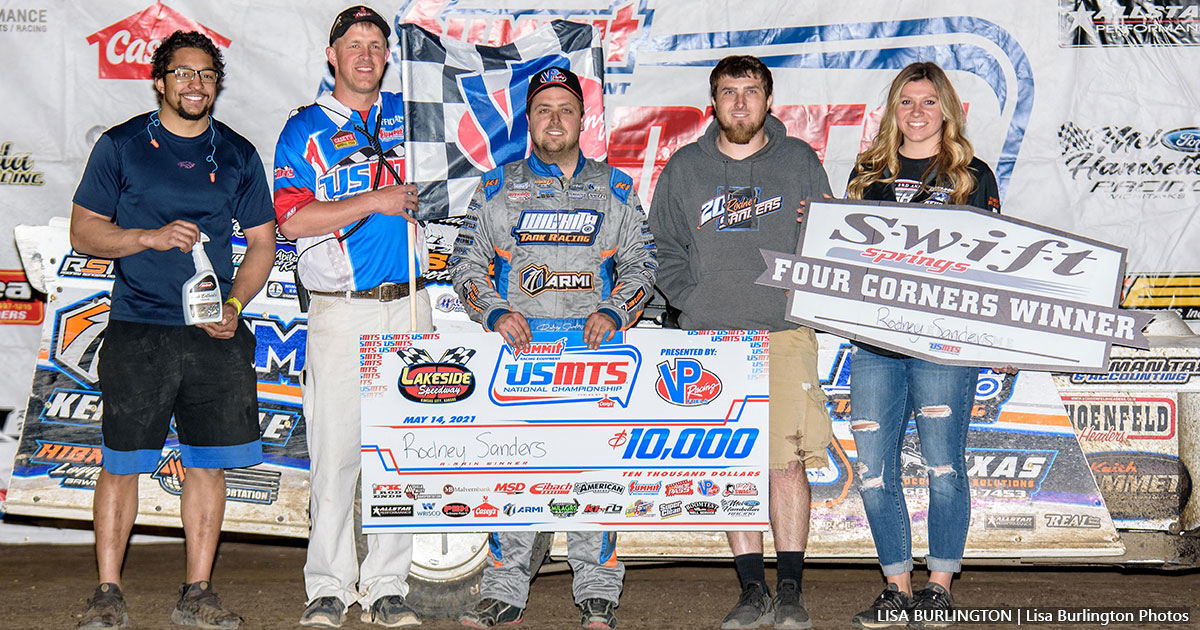 Sanders sizzles, snags $10,000 at Lakeside