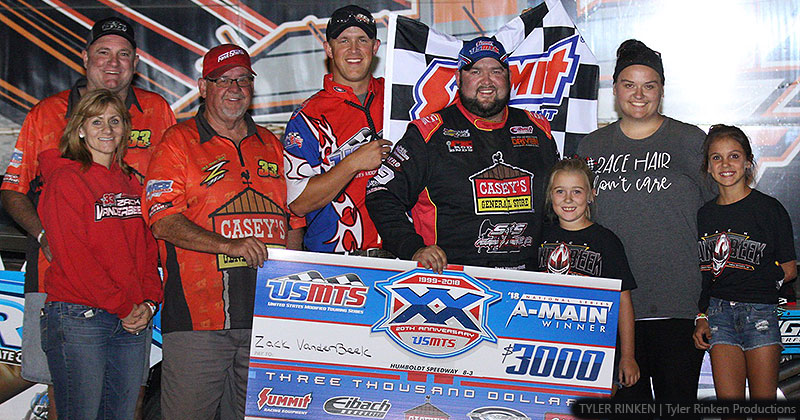 VanderBeek in victory lane at Humboldt