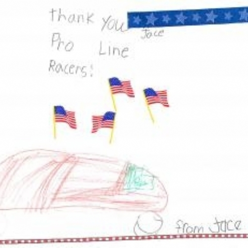 A drawing from a special little boy in New Sharon!! We Miss you Jace!!