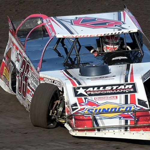 Zack VanderBeek at the 7th Annual USMTS Malvern Bank Duals at the Adams County Speedway in Corning, Iowa, on Saturday, June 10, 2017.