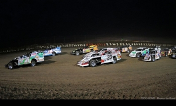 The start of the main event at the 7th Annual Silver Dollar Nationals at the I-80 Speedway in Greenwood, Neb., on Saturday, July 22, 2017.