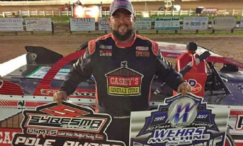 In addition to winning the race, Zack earned the Wehrs Machine & Racing Products Trick Move of the Race Award and Sybesma Graphics Pole Award during Round #2 of the USMTS Badgerland Summer Shootout presented by Prestige Custom Cabinetry at the 141 Speedway in Francis Creek, Wis., on Wednesday, July 12, 2017.