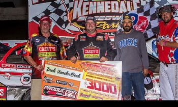 Zack VanderBeek won the Summit Racing Equipment